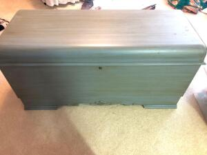 Painted LANE Cedar Chest- 23in. T x 47in. W x 19in. D