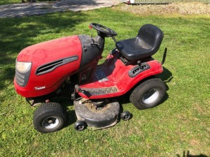 Craftsman YS4500 Lawn Mower - NOTE: We had to jump start mower before running it in video.
