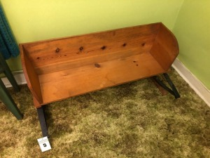 Antique Wood Buggy Bench- 22in. T x 45in. W x 47in. D
