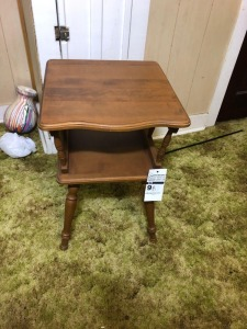 Vintage Wooden Side Table- 25in. T x 16in. W x 17in. D