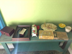 Misc. Items- Cigar Box, Wood Frame, Ash Tray, Etc.