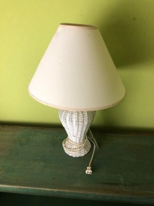 Decorative Wicker Lamp- 22in. T