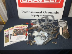 Variety of Gravely Parts & Hardware: Gaskets, Shims, Split Sockets, Ball Studs, Grips, and more!