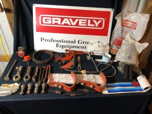 Large Assortment of Gravely Hardware: Ball Studs, Split Sockets, Decals, Tire Tubes, Sulky Hardware, and more!
