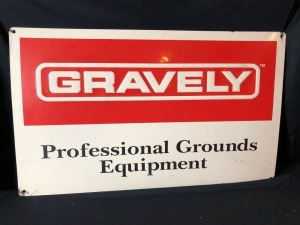 Gravely -Professional Grounds Equipment- Metal Sign - 18in. x 30in.