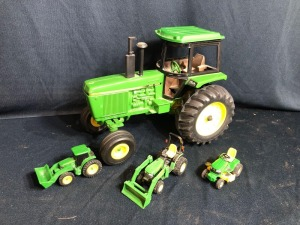 John Deere Toy Model 4255 with Small Toy Tractors & Lawnmower