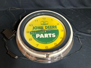 John Deere -Buy Genuine Parts- Wall Clock (outer light strip damaged)