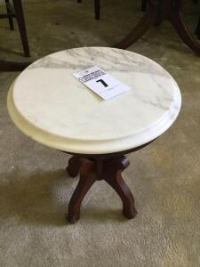Victorian small Marble top table - 17 x 14