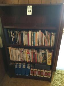 Bookshelf with a variety of books: Cookbooks, gardening, home repair, health, novels, sewing etc.  (Buyer bring boxes to remove books) - 60 x 36 x 12