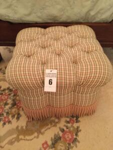 Rolling Cloth foot stool/bench