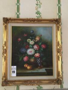 Framed wall art painting