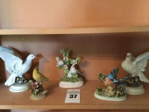 Variety of birds 3 by Andrea, 1 is porcelain made in Italy