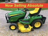 NOW SELLING ABSOLUTE - 2016 John Deere X580 Lawn Tractor with 54 Inch Deck - Shows 138 hours