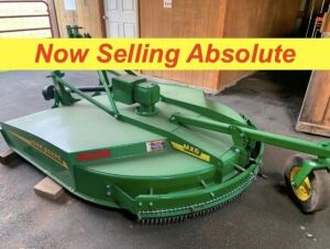 NOW SELLING ABSOLUTE - John Deere MX6 6 Ft Bush Hog