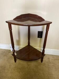 Wooden Corner Table 26in. T x 19in. W x 13in. D