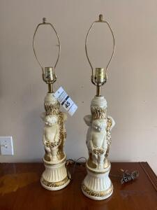 Pair of Vintage Lamps 27in. T
