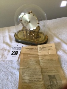 Kundo glass globe 400 day clock  - key wind and original papers