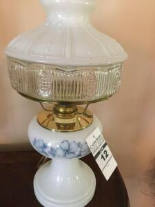 Antique glass Aladdin Lamp Glass base & Shade - electric