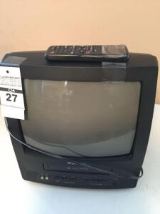 "Emerson 13"" portable TV/VHS combo with remote"