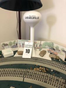 Lionelville Water Tower Train Set Figure - Trains are in O Scale - 1:48