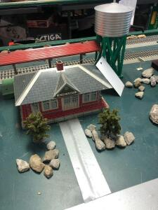 Girard Train Station w/ Water Tower - Trains are in O Scale - 1:48