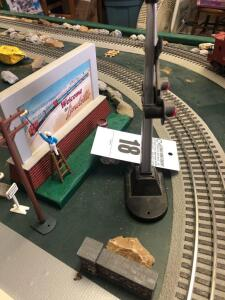 Train Set Welcome Billboard - Trains are in O Scale - 1:48