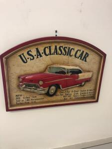 USA Classic Car and Route 66 Signs