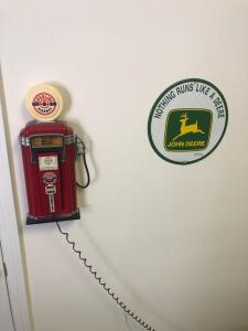 Gasoline Highway Telephone and John Deere Sign