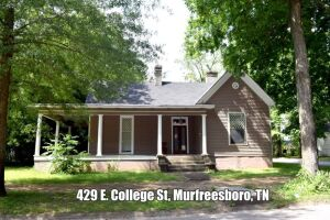 REAL ESTATE: 429 E. College St, Murfreesboro, TN