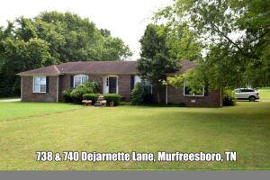 REAL ESTATE: 738 & 740 Dejarnette Ln, Murfreesboro, TN