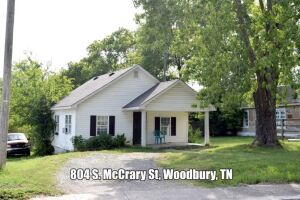 REAL ESTATE: 804 S. McCrary St, Woodbury, TN