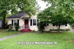 REAL ESTATE: 1019 E. Bell St, Murfreesboro, TN