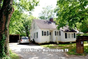 REAL ESTATE: 1108 E. Vine St, Murfreesboro, TN