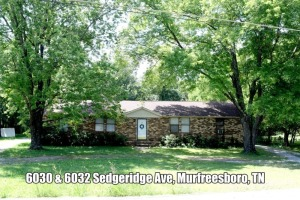 REAL ESTATE: 6030 & 6032 Sedgeridge Ave, Murfreesboro, TN