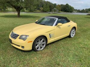NOW SELLING ABSOLUTE! 2005 Chrysler Crossfire LTD Roadster Convertible - Classic Yellow Pearl - 3.2L V6, 5-Speed Automatic Transmission, odometer shows 50,700 miles as of 9-20-20 - See video below