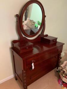 Dresser & Swing Mirror by Davis Cabinet Company (Cumberland Valley Collection) - Three Large Drawers, Two Boxes