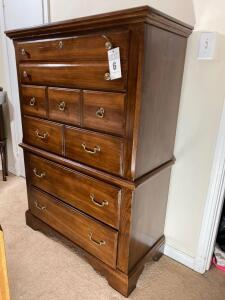 Vintage high chest by Vaughn and Bassett - 56 inches tall 40 inches wide 18 inches deep - D