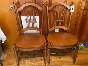 Pair of chairs -Back is 33 inches tall seat 18 1/2 inches - F