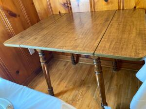 Vintage drop leaf table - 30 inches tall 41 1/2 inches wide 30 inches deep - F