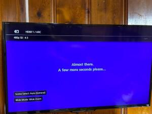 Sony Bravia flatscreen TV - Appears to be 42 inch diagonal with remote - A