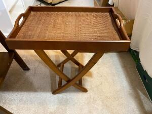 Vintage TV tray - 25 1/2 inches tall 24 wide and 16 deep - A