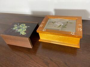Pair of vintage jewelry boxes. D.
