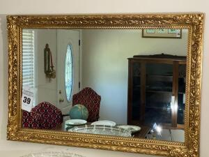 Vintage framed mirror - 36 1/2 x 24 - C
