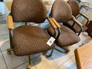 Chairs -Back 33 inches tall seat eight 2 1/2 inches high - B