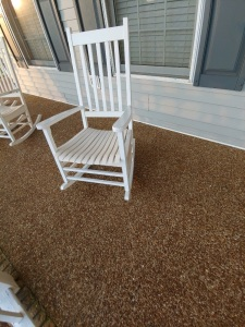 (7) Somer's Point White Rocking Chairs