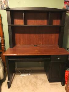 "Office Desk with Hutch - 62"" Tall with Hutch, 23.25"" Deep, 47"" Wide."