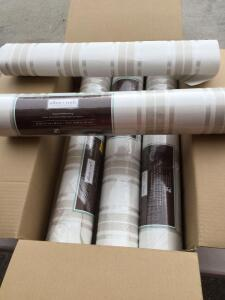 4 Unopened rolls of Allen & Roth Textured Wallpaper (each 56 square feet) & additional roll (partly used)