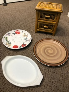 Dinner Platters and Serving Dishes - Plus small Jewelry Cabinet Piece from World Market