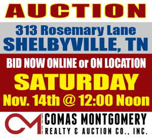 REAL ESTATE: 313 Rosemary Ln, Shelbyville, TN