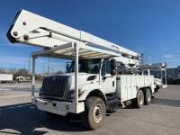 2007 Tandem Axle International with Lift-All Bucket - Odometer Shows 77,064+/- Miles - Engine Manufacturer: Maxxforce (International) - Vin#  1HTWGAZT48J560704 - Unit Make Model: Lift-All LM-65-2S Bucket - Hour Meter Shows 14,041+/-